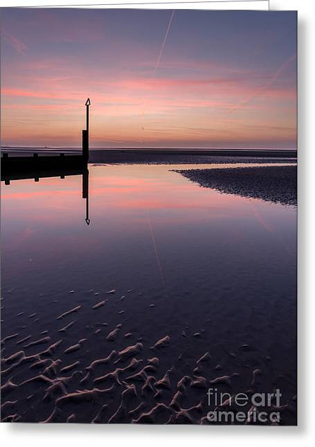Edge Greeting Cards - Spring Sunset Greeting Card by Adrian Evans