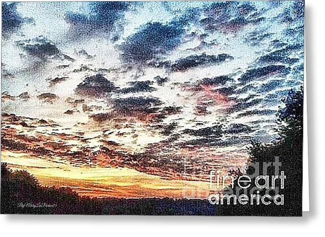 Cellphone Mixed Media Greeting Cards - Spring Sunset  Greeting Card by MaryLee Parker
