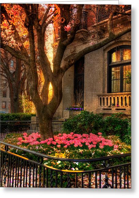 New Greeting Cards - Spring Sunset in Back Bay - Boston Greeting Card by Joann Vitali