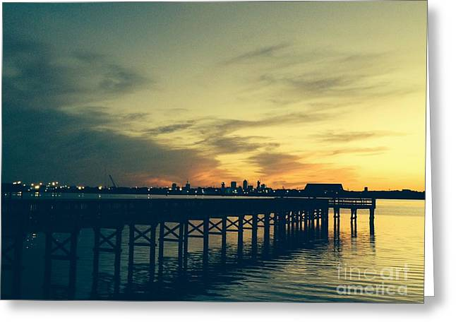 Jacksonville Greeting Cards - Spring Sunset over St Johns River Greeting Card by Mitzisan Art LLC