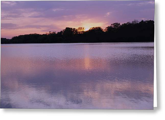 Fall Scenes Greeting Cards - Spring Sunset Greeting Card by Sheela Ajith