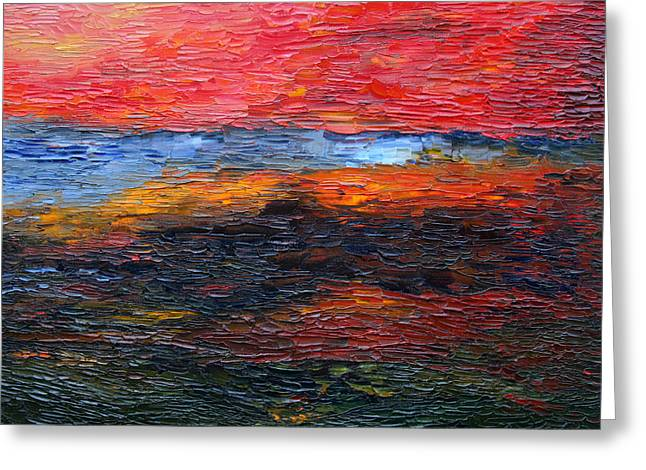 Constant Change Greeting Cards - Spring Sunset Greeting Card by Vadim Levin