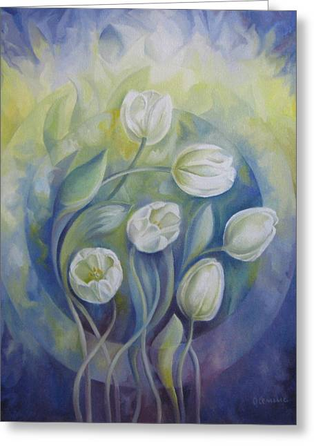 Violet Blue Greeting Cards - Spring symphony Greeting Card by Elena Oleniuc