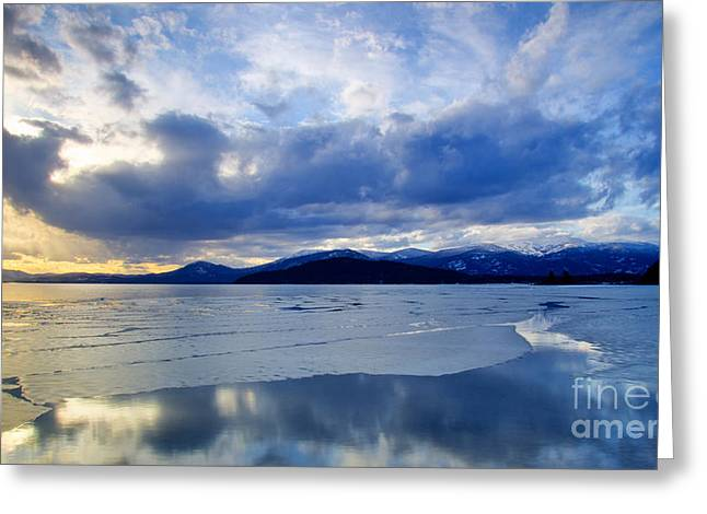 Schweitzer Greeting Cards - Spring Thaw on Pend Oreille Greeting Card by Idaho Scenic Images Linda Lantzy