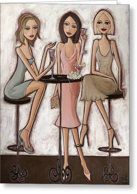 Girls Night Out Greeting Cards - Spring Things Greeting Card by Denise Daffara