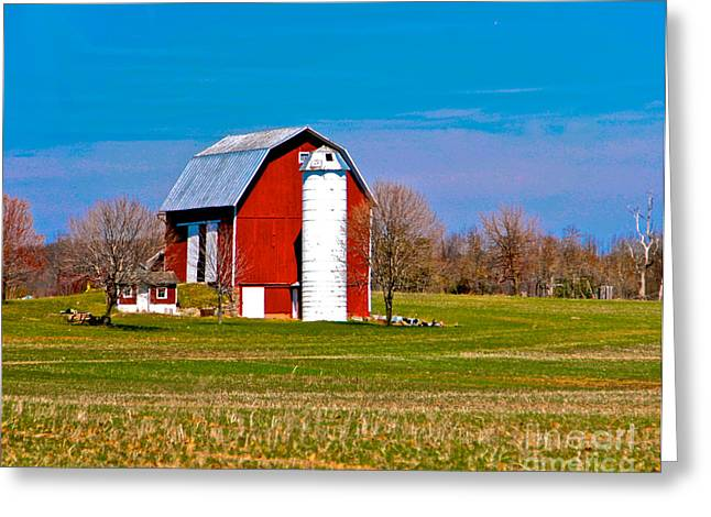 Hay Mixed Media Greeting Cards - Spring Time On The Farm Greeting Card by Robert Pearson