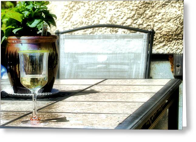 Spring Time Wine Greeting Card by Jimmy Ostgard