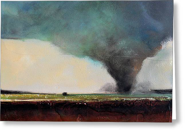 Thunderstorm Paintings Greeting Cards - Spring Tornado Greeting Card by Toni Grote
