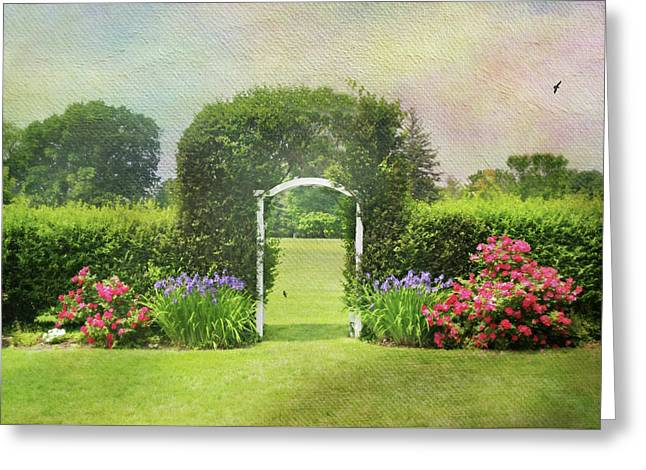 Spring Trellis Greeting Card by Diana Angstadt