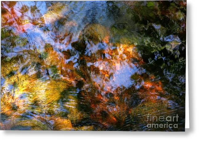 Glassy Lake Surface Greeting Cards - Spring Water Greeting Card by Joanne Baldaia - Printscapes