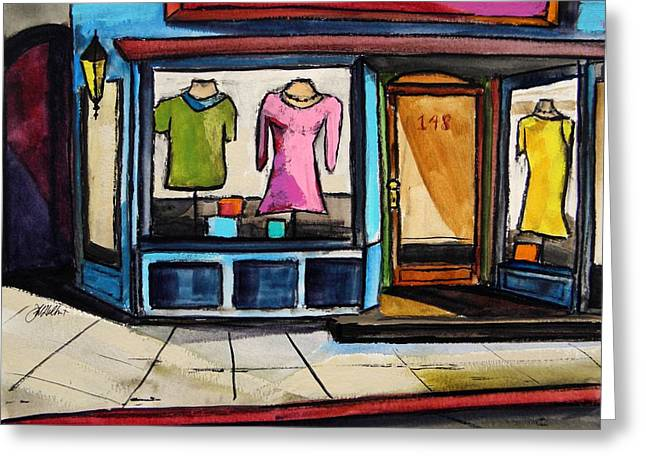 Vivid Colour Drawings Greeting Cards - Spring Windows Greeting Card by John  Williams