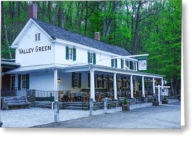 Springtime At The Valley Green Inn Greeting Card by Bill Cannon