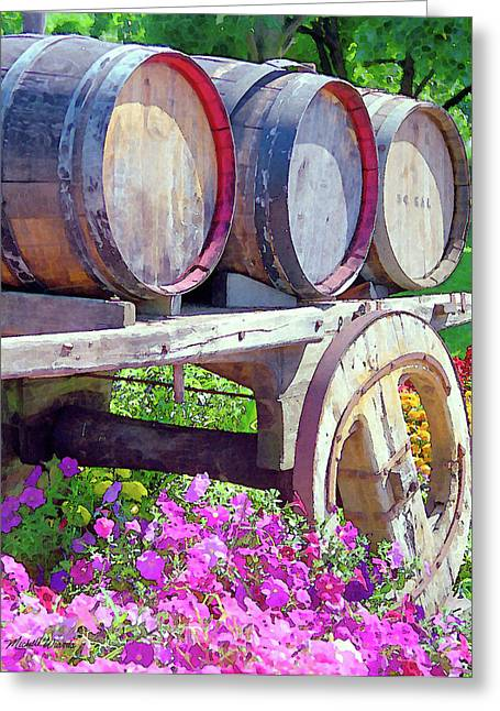 Napa Valley Digital Greeting Cards - Springtime at V Sattui Winery St Helena California Greeting Card by Michelle Wiarda