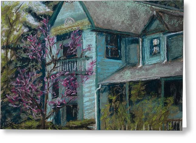 Fort Collins Pastels Greeting Cards - Springtime in Old Town Greeting Card by Mary Benke