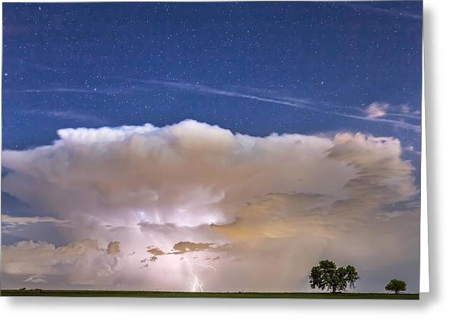 Flash Greeting Cards - Springtime Thunderstorm On the Colorado Plains Greeting Card by James BO  Insogna