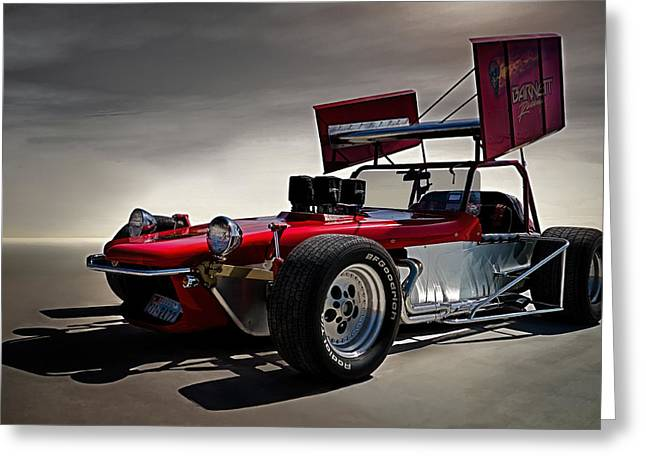 Hotrod Greeting Cards - Sprint Car Greeting Card by Douglas Pittman