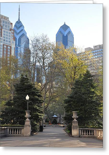 Rittenhouse Square Greeting Cards - Sprintime at Rittenhouse Square Greeting Card by Bill Cannon