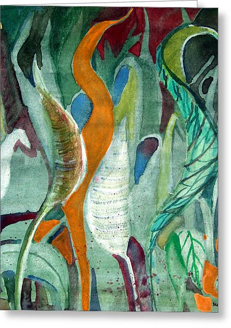Abstractions Drawings Greeting Cards - Sprout Greeting Card by Mindy Newman