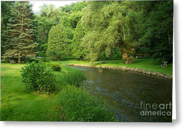 Pa Mixed Media Greeting Cards - Spruce Creek pa. Greeting Card by Heinz G Mielke