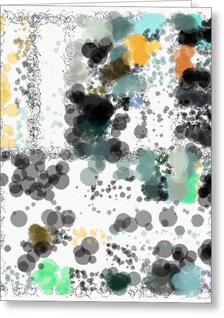 Generative Abstract Greeting Cards - Spuh Lash 9-12-2015 #3 Greeting Card by Steven Harry Markowitz