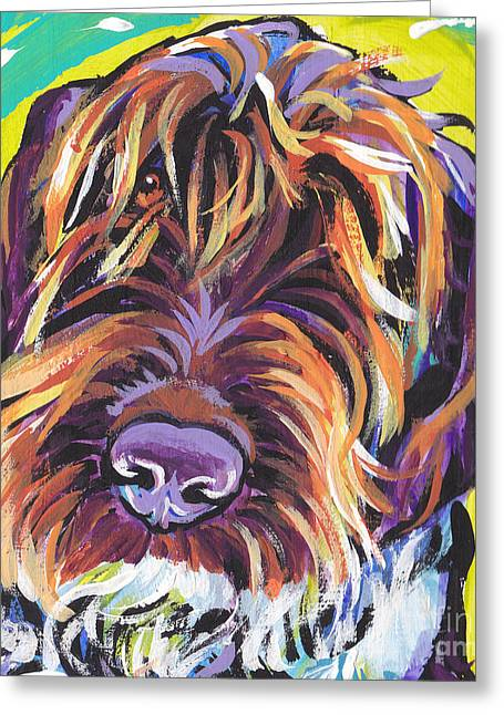 Dog Portraits Greeting Cards - Spumoni Spinone Greeting Card by Lea