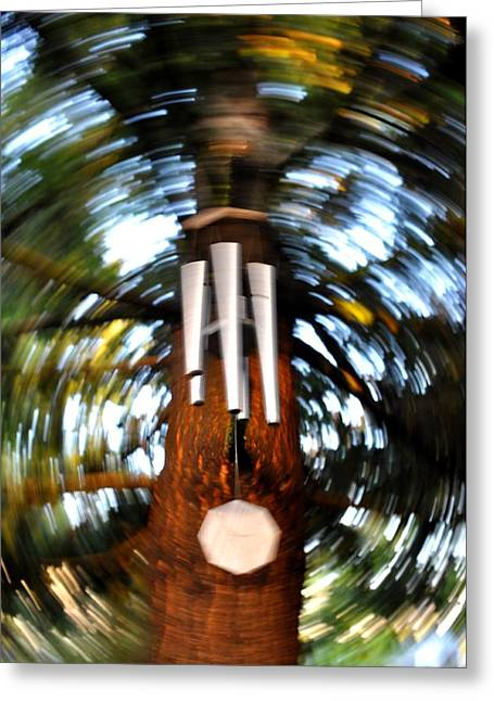Wind Chimes Greeting Cards - Spun Chime Greeting Card by Noah Cole