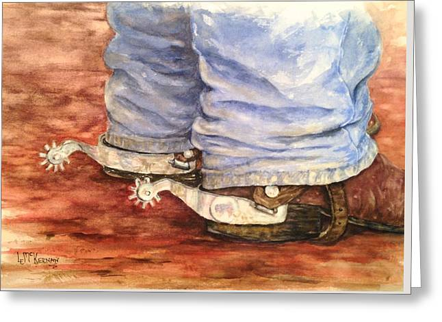 Dungarees Greeting Cards - Spur of the Moment Greeting Card by Louise E McKernan