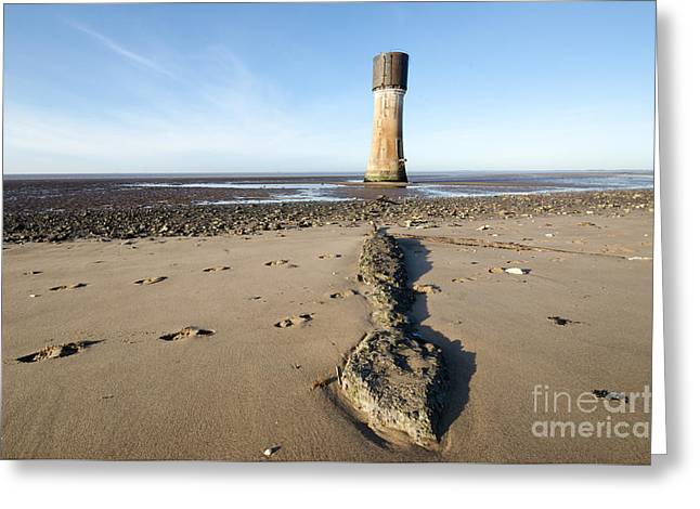 Spurn Head Greeting Card by Stephen Smith