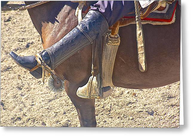 Spur On Greeting Cards - Spurs for Huaso on Horse-breeding Ranch near Puerto Varas-Chile Greeting Card by Ruth Hager