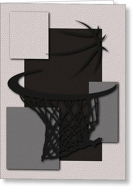 Basket Ball Greeting Cards - Spurs Hoop Greeting Card by Joe Hamilton