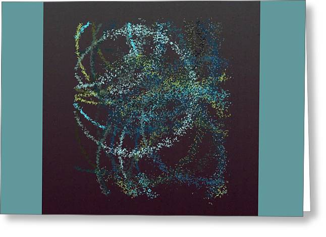Generative Abstract Greeting Cards - Spurticus 9-12-2015 #1 Greeting Card by Steven Harry Markowitz
