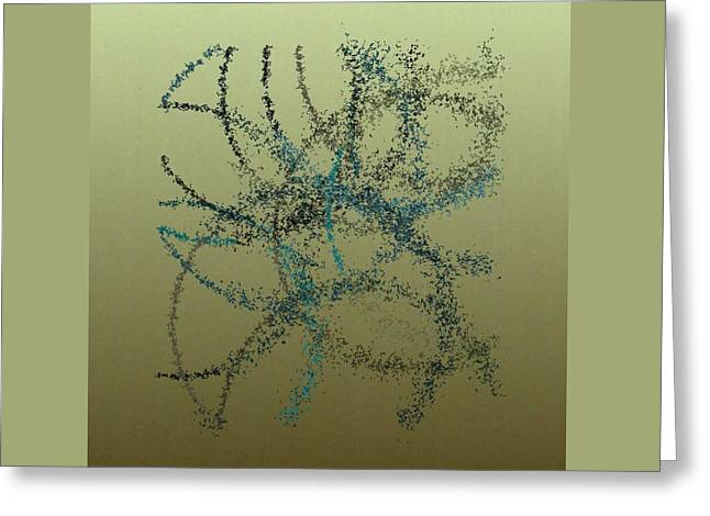 Generative Abstract Greeting Cards - Spurticus 9-7-2015 #1 Greeting Card by Steven Harry Markowitz