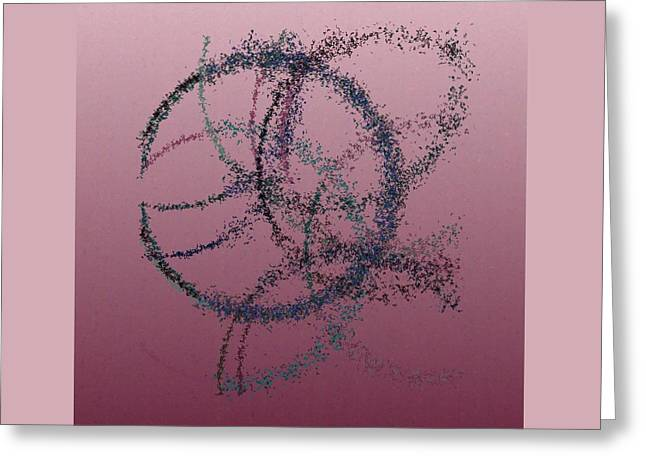Generative Abstract Greeting Cards - Spurticus 9-7-2015 #2 Greeting Card by Steven Harry Markowitz