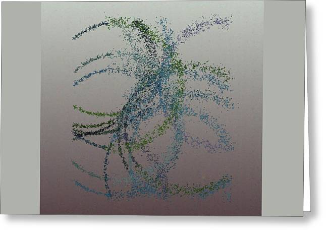Generative Abstract Greeting Cards - Spurticus 9-7-2015 #4 Greeting Card by Steven Harry Markowitz