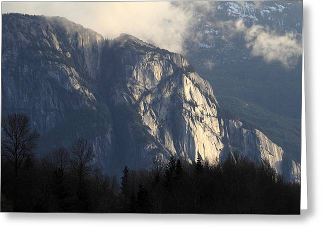 Squamish Chief monolith  Greeting Card by Pierre Leclerc Photography