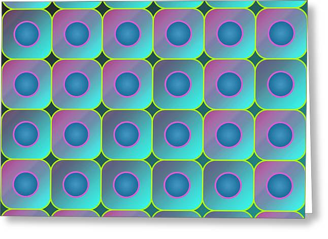 Squares. Linear Greeting Cards - Squares and circles Greeting Card by Gaspar Avila