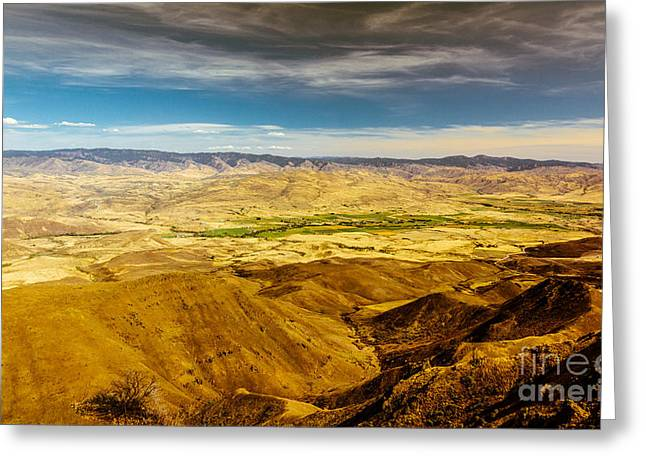 Haybale Greeting Cards - Squaw Butte View HDR-2 Greeting Card by Robert Bales
