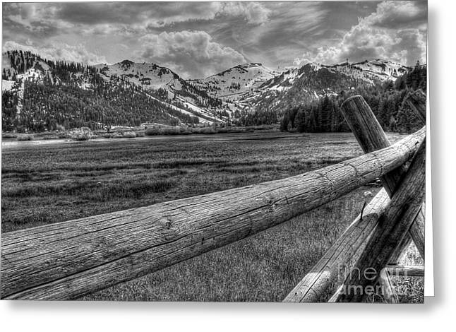 Black And White Hdr Greeting Cards - Squaw Valley USA Olympic Valley California Greeting Card by Scott McGuire