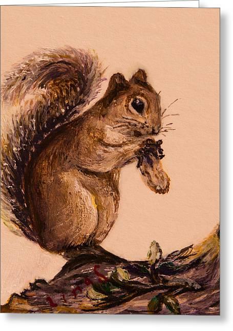 Squirrel Greeting Cards - Squirrel  Greeting Card by Zina Stromberg