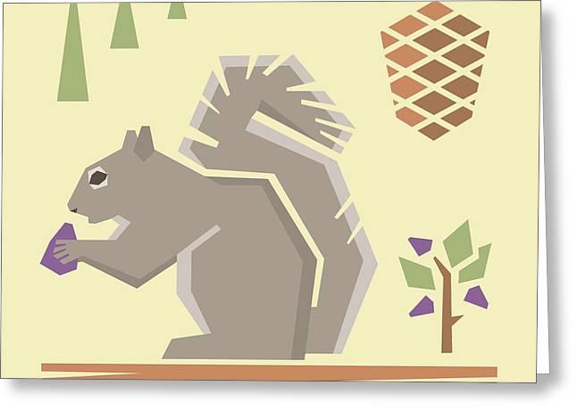 Squirrel1 Greeting Card by Mitch Frey