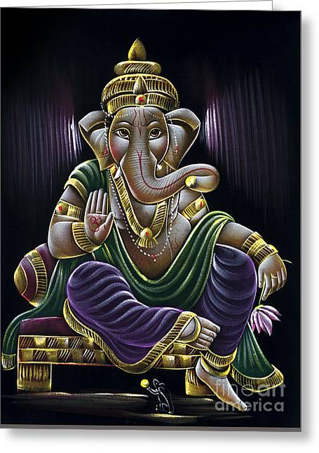 Sri Ganapati Greeting Card by Tim Gainey