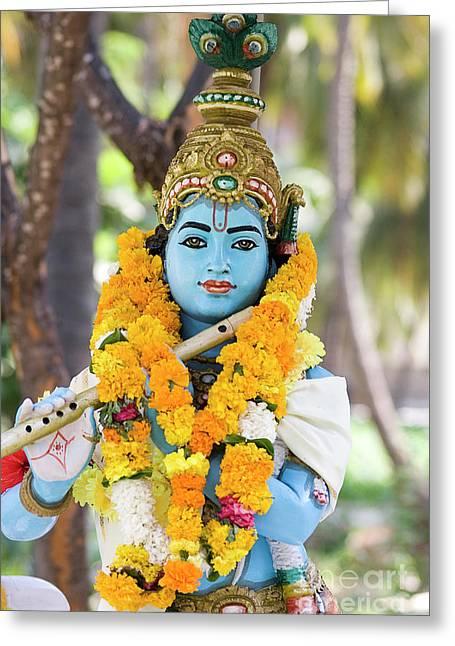 Sri Krishna Jai Greeting Card by Tim Gainey