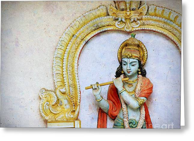Sri Krishna Greeting Card by Tim Gainey