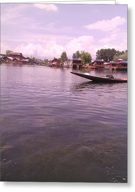 Dal Lake Greeting Cards - Srinagar -Kashmir Greeting Card by Sumisha Chandan