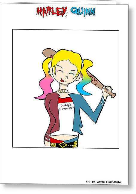 Cartoonist Digital Art Greeting Cards - SS Halrey Quinn  Greeting Card by Chris Thomasma