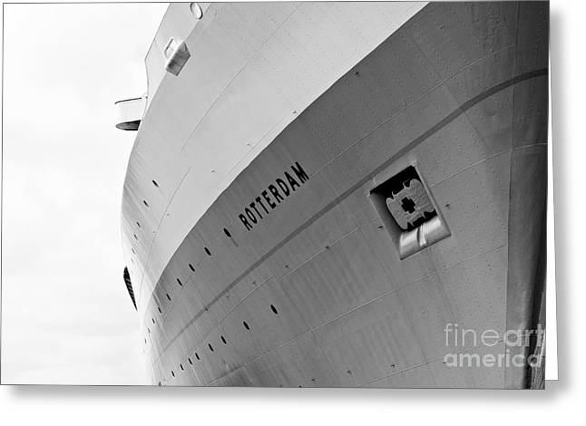 Porthole Greeting Cards - SS Rotterdam Abstract Greeting Card by Dean Harte