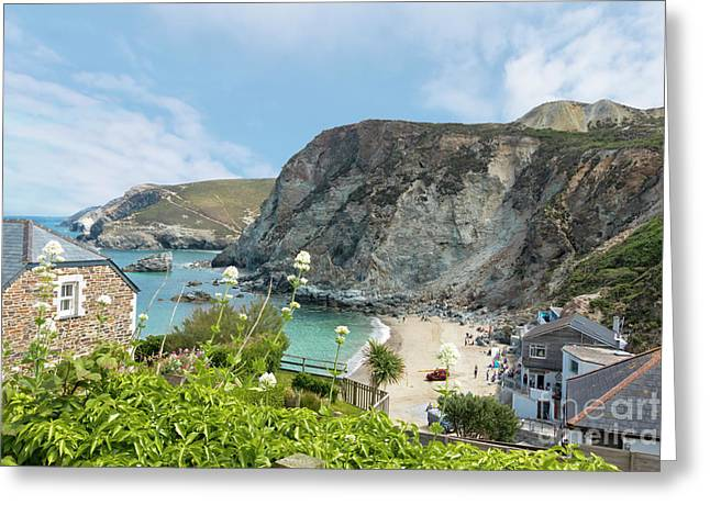 St Agnes Beach Greeting Card by Terri Waters