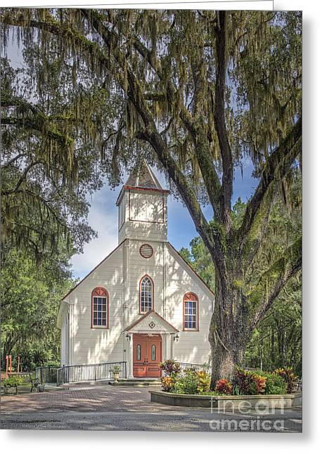 St. Ambrose Catholic Church  Greeting Card by Maria  Struss