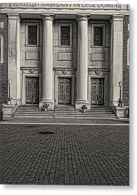 Church Pillars Greeting Cards - St Andrews Church NYC Greeting Card by Robert Ullmann