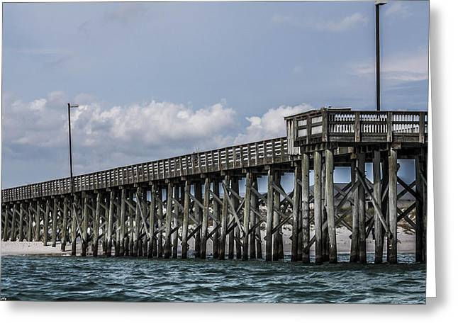 Panama City Beach Greeting Cards - St. Andrews Pier Panama City Beach  Greeting Card by Debra Forand